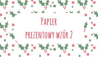 Papier prezentowy wzór 2