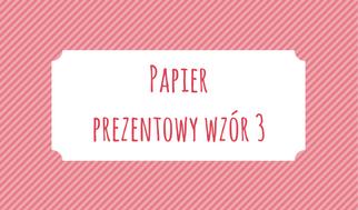 Papier prezentowy wzór 3